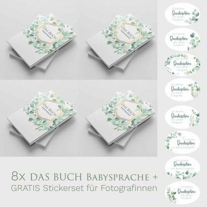 Das Buch - Babysprache 8er Set mit Sticker