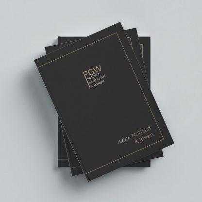 PGW Notizbuch Stapel